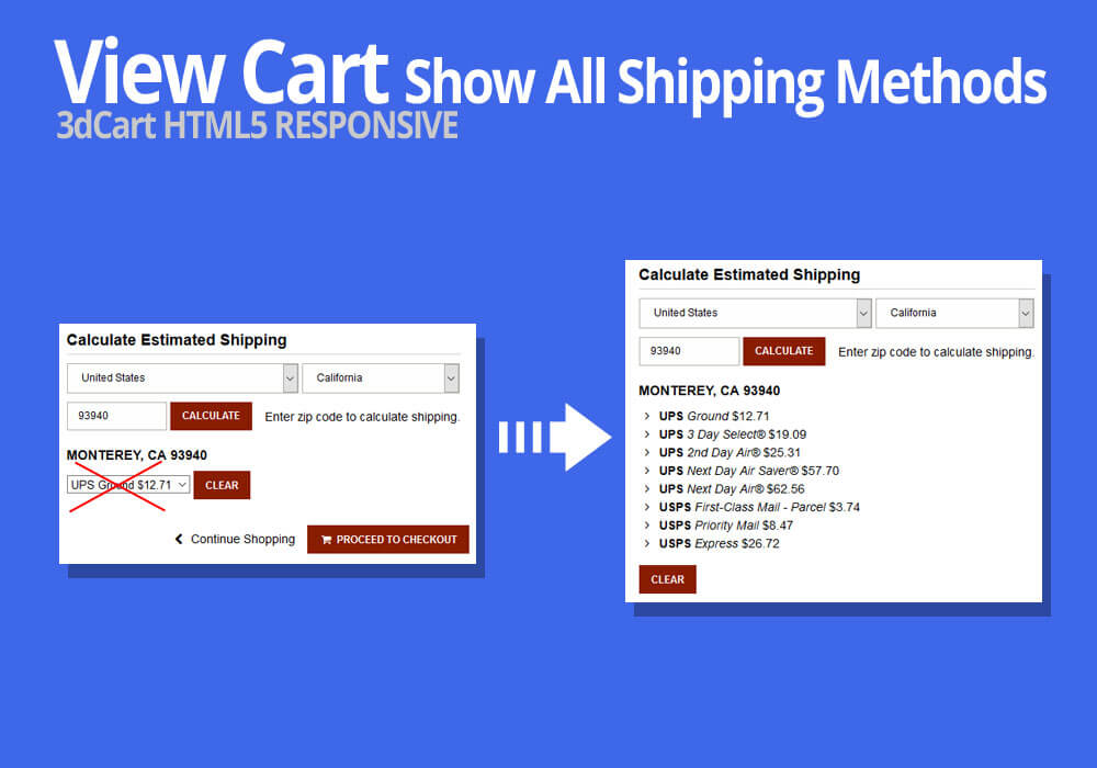 60dcart Show All Shipping Methods View Cart Show All Shipping Unique Shipping Quotes