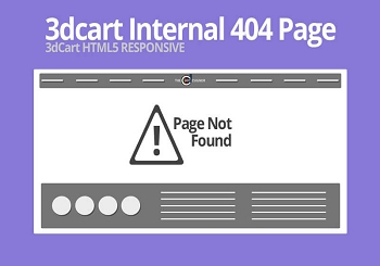 3dcart Internal Responsive 404 Page