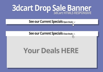 3dcart Custom Sale Drop Banner