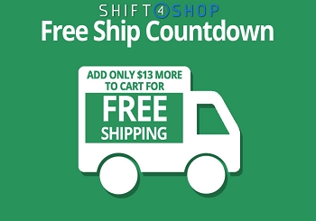 Shift4Shop Free Shipping Countdown
