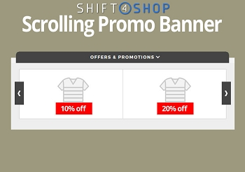 Shift4Shop Scrolling Promo Banner