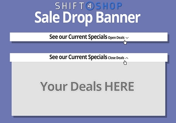 Shift4Shop Custom Sale Drop Banner