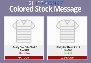 Shift4Shop Stock Message Color